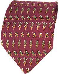 Ferragamo Cravate soie rouge
