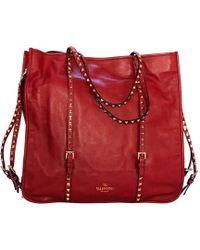 Valentino Sac XL en cuir cuir rouge