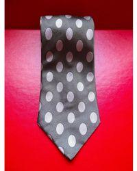 Balmain Cravate soie gris