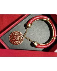 Carolina Herrera Bracelet métal rouge