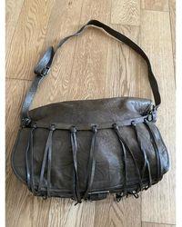 Balmain - Sac en bandoulière en cuir cuir marron - Lyst