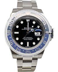 Rolex - Montre au poignet acier GMT-MASTER II noir - Lyst