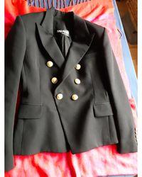 Balmain Blazer, veste tailleur laine noir