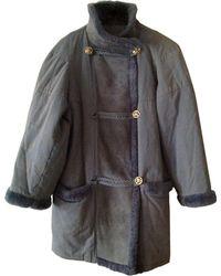 Nina Ricci Veste coton bleu