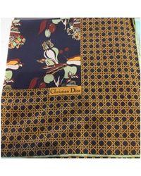 Dior - Foulard soie multicolore - Lyst