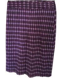 Sandro Jupe courte polyester multicolore - Violet