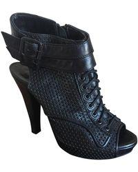 The Kooples Bottines & low boots à talons cuir noir