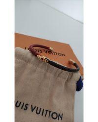 Louis Vuitton - Bracelet cuir rouge - Lyst
