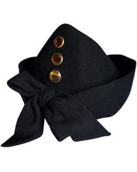 Lanvin Chapeau laine noir