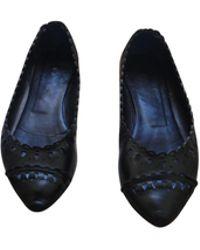 Sandro Ballerines cuir noir