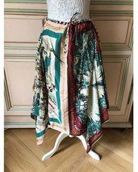 Jean Paul Gaultier - Jupe mi-longue coton multicolore - Lyst