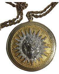 Kenneth Jay Lane Pendentif, collier pendentif métal argent - Métallisé