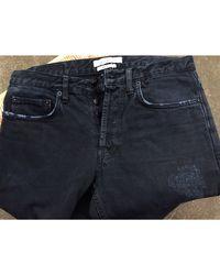 Sandro - Jeans droit coton noir - Lyst