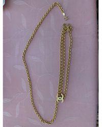 Chanel Ceinture fine métal doré doré - Métallisé