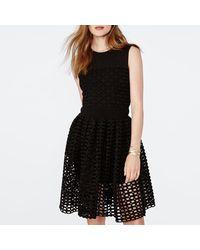 Maje - Robe mi-longue polyester noir - Lyst