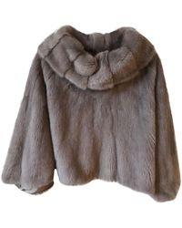 Yves Salomon - Blouson, veste en fourrure fourrure gris - Lyst