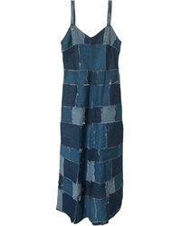 Jean Paul Gaultier Robe longue denim, jean bleu