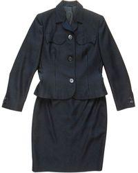 Versace Tailleur jupe laine noir