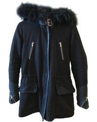 Maje Manteau coton noir