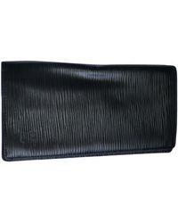 Louis Vuitton Portefeuille cuir noir