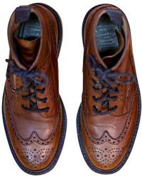 Church's - Bottes cuir marron - Lyst