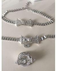 Dior Parure bijoux acier argent - Métallisé