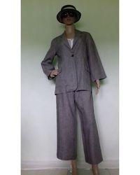 Max Mara Tailleur pantalon lin gris