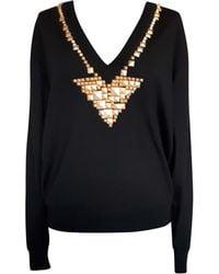 Givenchy - Pull laine noir - Lyst