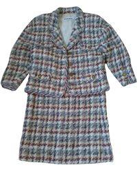 Chanel Tailleur jupe laine multicolore - Bleu