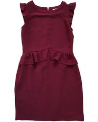 Sandro - Robe courte polyester rouge - Lyst