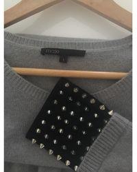 Maje - Pull tunique laine gris - Lyst