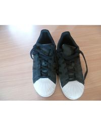 adidas - Baskets synthétique noir - Lyst