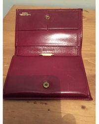 Lancel Porte-cartes cuir French Flair rouge
