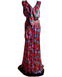 Nina Ricci - Robe longue soie rose - Lyst