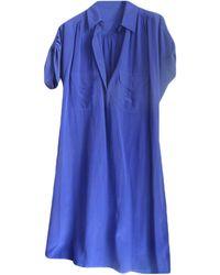 Claudie Pierlot - Robe mi-longue soie violet - Lyst