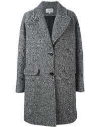 Carven Manteau laine mélangée multicolore - Gris