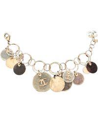 Chanel Bracelet métal doré - Métallisé