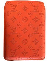 Louis Vuitton Sac à main en cuir cuir orange