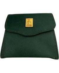 Lanvin Porte-monnaie cuir vert