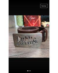 Jean Paul Gaultier Ceinture fine cuir marron