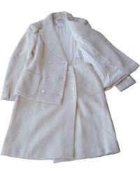 Chanel Tailleur jupe laine blanc