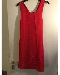 Claudie Pierlot - Robe courte polyester rose - Lyst