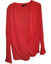 The Kooples - Blouse viscose rouge - Lyst