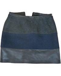 Sandro Jupe courte laine gris