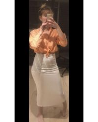 Givenchy Jupe mi-longue viscose blanc