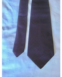 Dior Cravate soie violet