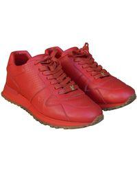 Louis Vuitton Baskets cuir rouge