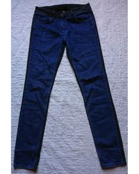 Sandro Jeans slim coton bleu