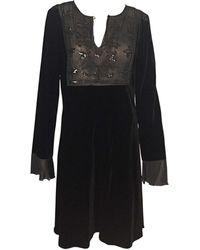 Blumarine - Robe kaftan, djellaba velours noir - Lyst