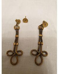 Dior Boucles d'oreille métal doré - Métallisé